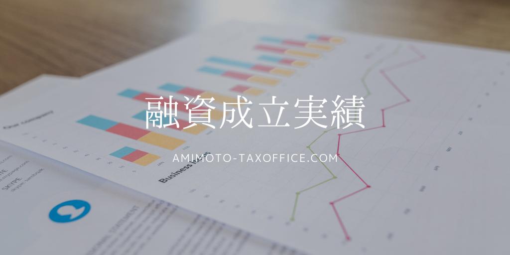 網本俊明税理士事務所の融資紹介成立実績